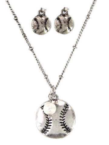 Softball Necklace set