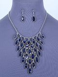 Glass Bib Necklace Set