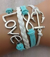 Infinity Anchor Love Multi Srand Bracelet
