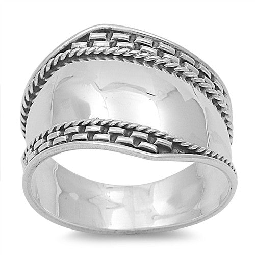 Sterling Silver Bali Design Ring