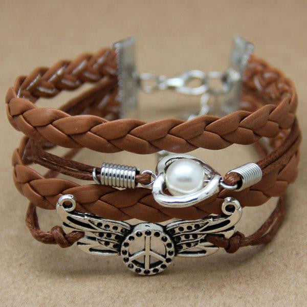 Handmade Fashion Charms Friendship Gift - Braid Personalized Suede Leather Bracelet
