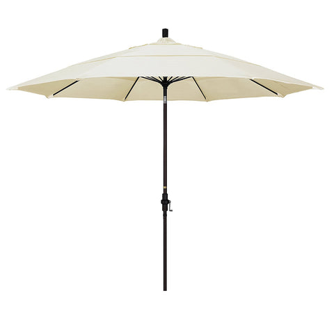 Eclipse Collection 11' Fiberglass Market Umbrella Collar Tilt DV Bronze/Sunbrella/Canvas Vellum