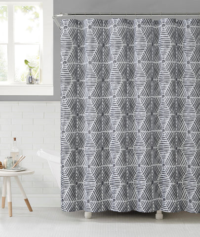 "Royal Bath 3D Illusion Sailcloth Fabric Shower Curtain - 72"" x 72"""
