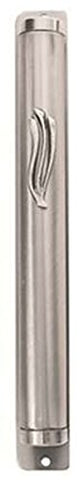 Ultimate Judaica Mezuzah Cover with Modern Wavy Shin Design - 12 CM