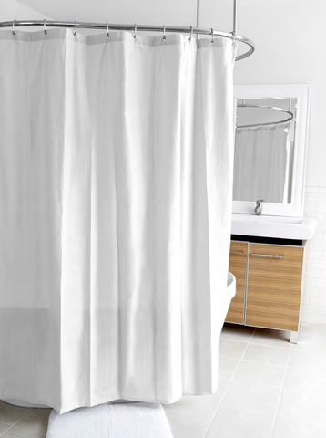 "Royal Bath Waterproof Textured Microfiber Fabric Shower Curtain (70"" x 72"") with Metal Grommets and Weighted Hem"