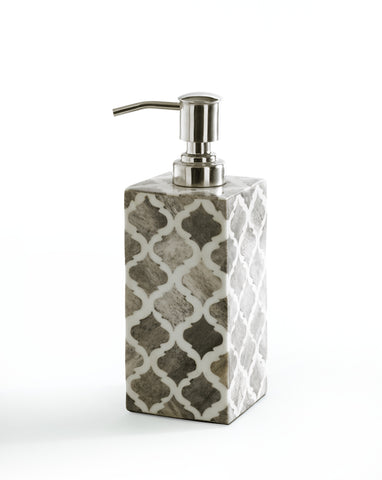 "Royal Bath Moroccan Mosaic Styled Lotion Dispenser/ Soap Pump (2.6""L x 2.6""W x 7.5""H)"