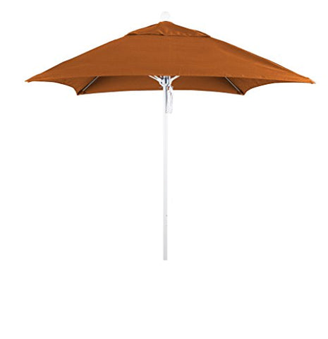 Eclipse Collection 6' Fiberglass Market Umbrella PO DVent Matte White/Sunbrella/Tuscan
