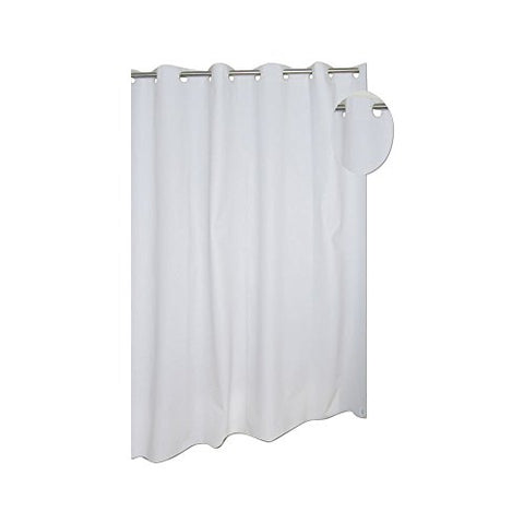Park Avenue Deluxe Collection Park Avenue Deluxe Collection EZ-ON? PEVA Shower Curtain in White