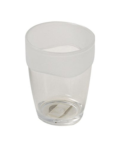 Park Avenue Deluxe Collection Park Avenue Deluxe Collection Clear with Frosted Trim Rib-Textured Tumbler