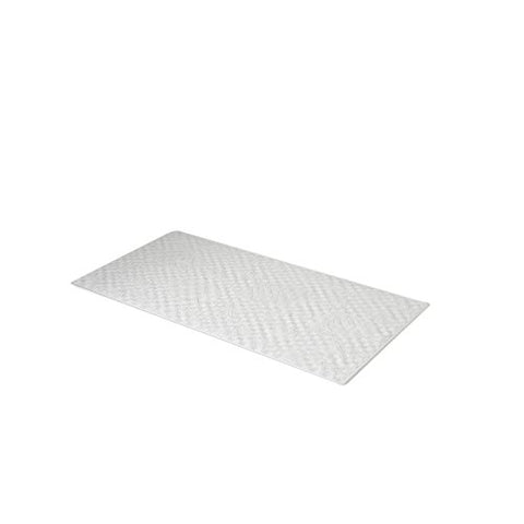 Park Avenue Deluxe Collection Park Avenue Deluxe Collection Medium (16'' x 28'') Slip-Resistant Rubber Bath Tub Mat in White