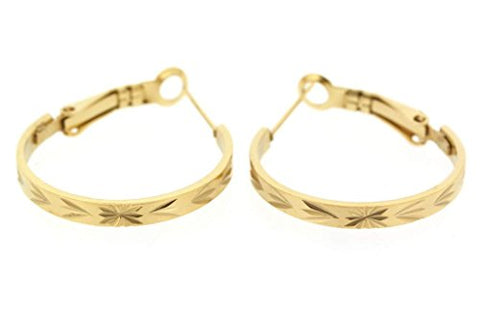 Ben and Jonah Stainless Steel Gold Plated Earring with Cool Design