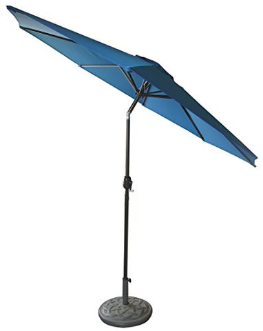 Eclipse Patio 9'8 inch  Rib Royal Blue Crank Umbrella
