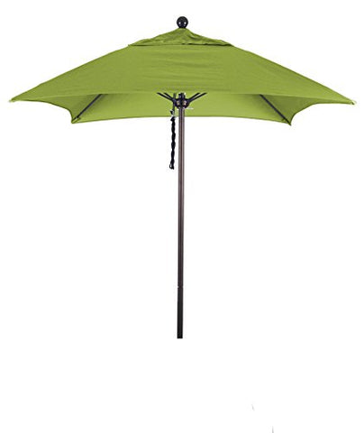 Eclipse Collection 6' Fiberglass Market Umbrella PO DVent Bronze/Sunbrella/Macaw