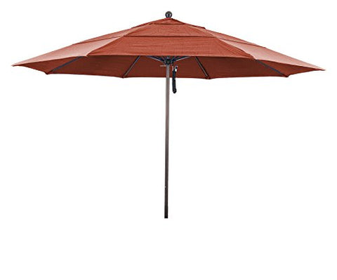 Eclipse Collection 11' Fiberglass Market Umbrella PO DVent Bronze/Olefin/Terracota
