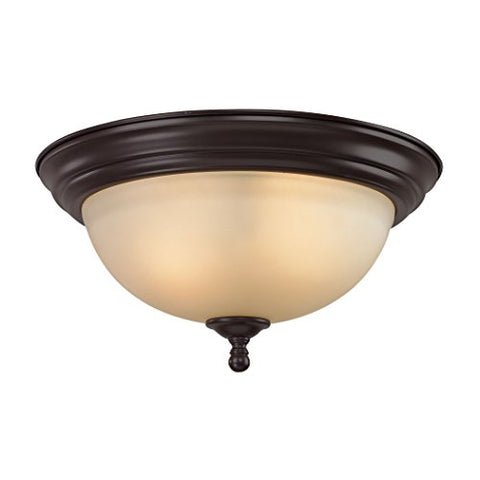 Thomas Lighting Chatham 3-light Flush Mount Oiled Bronze
