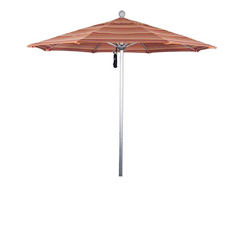 Eclipse Collection 7.5' Fiberglass Market Umbrella PO DVent Silver Anodized/Sunbrella/Dolve Mango