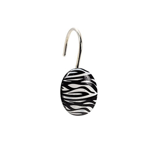 Park Avenue Deluxe Collection Park Avenue Deluxe Collection  inch Zebra inch  Resin Shower Curtain Hooks