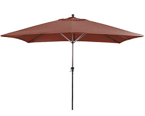 Eclipse Collection 11' Fiberglass Market Umbrella EasyLift No Crank No Tilt Bronze/Henna
