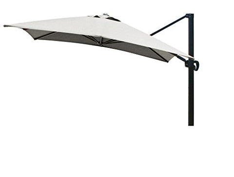 Eclipse Collection 10'x10' SquareCantileverUmbrella CL MultiPositon Bronze/Sunbrella/Spectrum Dove