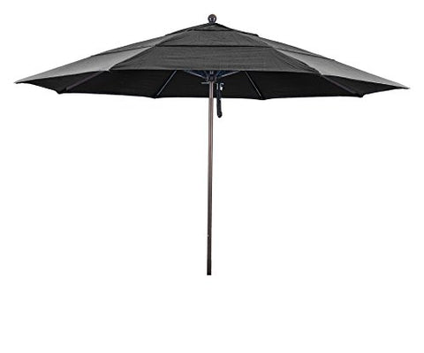 Eclipse Collection 11' Fiberglass Market Umbrella PO DVent Bronze/Pacifica/Ginkgo