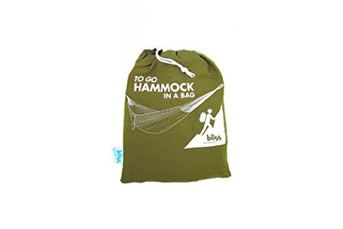 Patio Bliss Pocket Camping Hammock - Forest Green