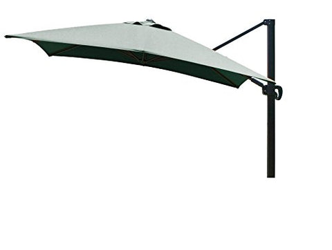 Eclipse Collection 10'x10' SquareCantileverUmbrella CL MultiPositon Bronze/Sunbrella/F.Green