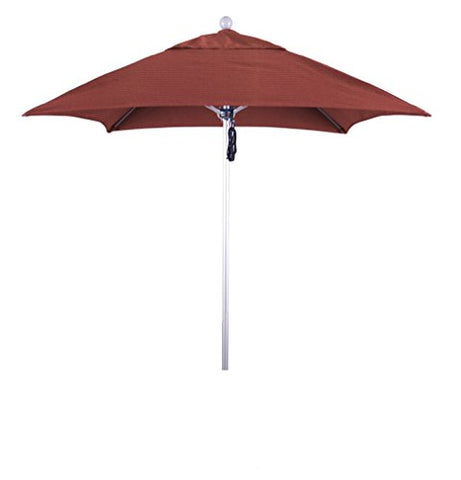 Eclipse Collection 6' Fiberglass Market Umbrella PO DVent Silver Anodized/Sunbrella/Henna