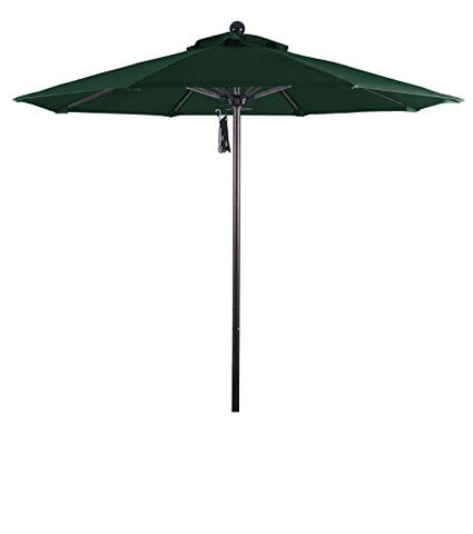Eclipse Collection 7.5' Fiberglass Market Umbrella PO DVent Bronze/Sunbrella/ForestGreen