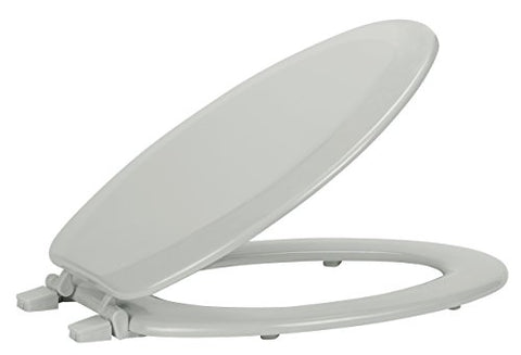 Ben&Jonah Collection Fantasia 19 Inch Elongated Wood Toilet Seat - Silver