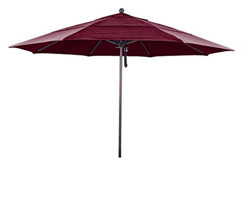 Eclipse Collection 11' Fiberglass Market Umbrella PO DVent Bronze/Pacifica/Navy Blue