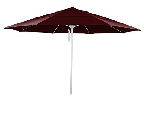 Eclipse Collection 11' Fiberglass Market Umbrella PO DVent MWhite/Pacifica/Burgandy