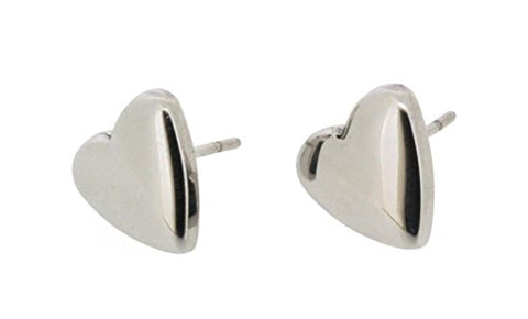 Ben and Jonah Stainless Steel Polished Heart Shaped Stud Earring