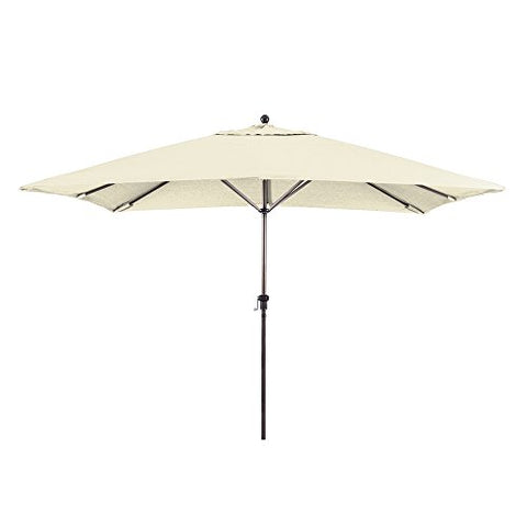 Eclipse Collection 11 x 8 ft Rectangular Aluminum Market Umbrella with Crank Lift (Canvas (Sunbrella))