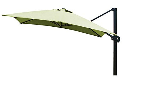 Eclipse Collection 10'x10' SquareCantileverUmbrella CL MultiPositon Bronze/Sunbrella/Macaw