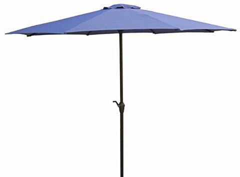 Eclipse Patio 9'8 inch  Rib Purple Crank Market Umbrella