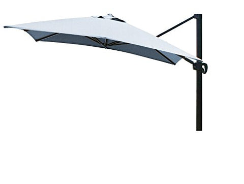 Eclipse Collection 10'x10' SquareCantileverUmbrella CL MultiPositon Bronze/Sunbrella/Air Blue