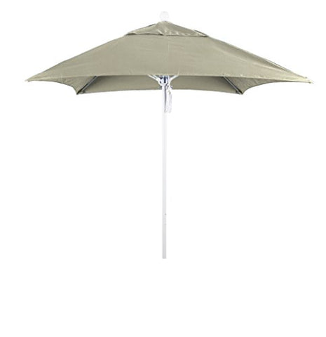 Eclipse Collection 6' Fiberglass Market Umbrella PO DVent Matte White/Sunbrella/Canvas