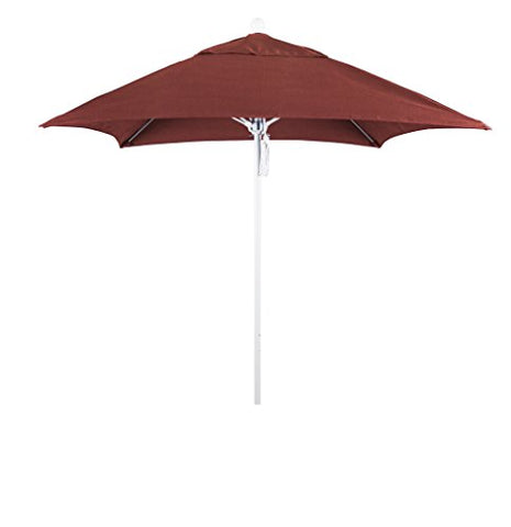 Eclipse Collection 6' Fiberglass Market Umbrella PO DVent Matte White/Sunbrella/Henna