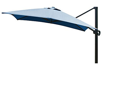Eclipse Collection 10'x10' SquareCantileverUmbrella CL MultiPositon Bronze/Sunbrella/PacBlue