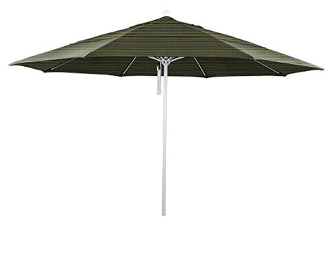 Eclipse Collection 11' Fiberglass Market Umbrella PO DVent MWhite/Olefin/Terrace Fern
