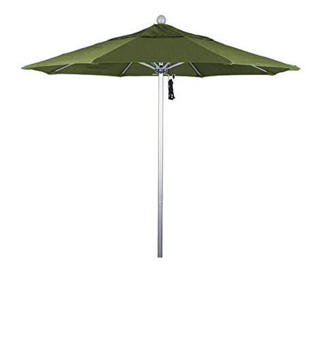 Eclipse Collection 7.5' Fiberglass Market Umbrella PO DVent Silver Anodized/Sunbrella/Spectrum Indigo