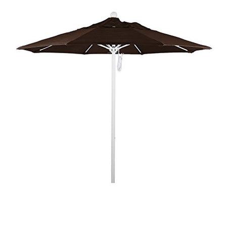 Eclipse Collection 7.5' Fiberglass Market Umbrella PO DVent White/Sunbrella/BayBrown