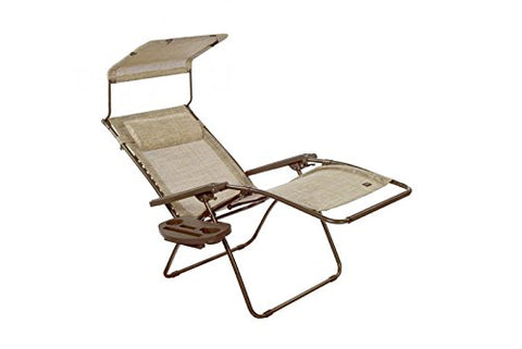 Patio Bliss DELUXE GRAVITY FREE Recliner with Covered Bungee - Sand