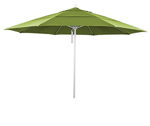 Eclipse Collection 11' Fiberglass Market Umbrella PO DVent MWhite/Pacifica/Ginkgo