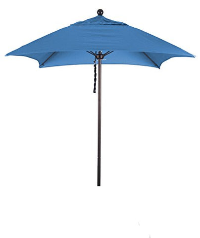 Eclipse Collection 6' Fiberglass Market Umbrella PO DVent Bronze/Sunbrella/Pacific Blue