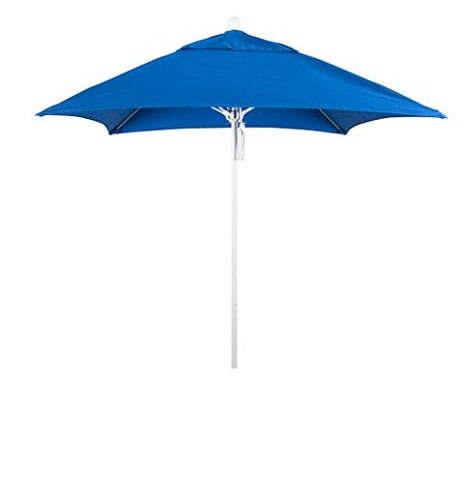 Eclipse Collection 6' Fiberglass Market Umbrella PO DVent Matte White/Sunbrella/Pacific Blue