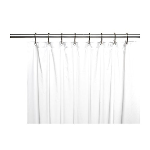 Park Avenue Deluxe Collection Park Avenue Deluxe Collection Mildew-Resistant 10 Gauge Vinyl Shower Curtain Liner w/ Metal Grommets and Reinforced Mesh Header in White