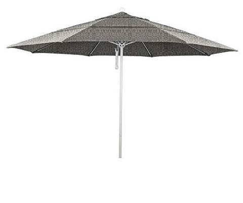 Eclipse Collection 11' Fiberglass Market Umbrella PO DVent MWhite/Olefin/Woven Granite