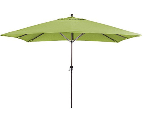 Eclipse Collection 11'X8' Rectangular Aluminum Market Umbrella Bronze/Sunbrella/Macaw