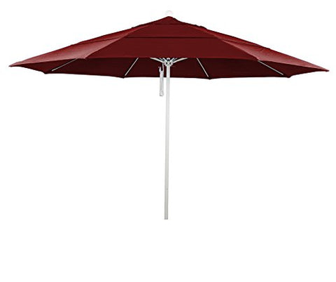Eclipse Collection 11' Fiberglass Market Umbrella PO DVent White/Sunbrella/Jockey Red